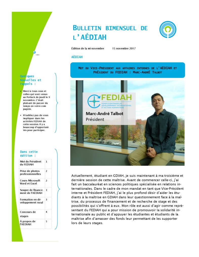 Bulletin bi-mensuel mi-nov 1